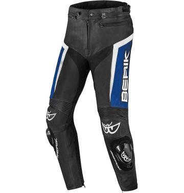 Кожен мото панталон Berik Misle черно/синьо/бяло