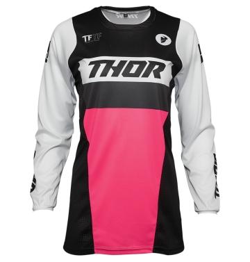 Кросова тениска - дамска Thor Pulse Racer  черно/розово