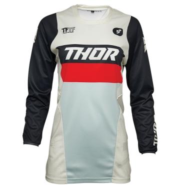 Кросова тениска - дамска Thor Pulse Racer черно/мента